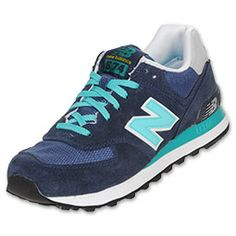 New Balance Women's 574 Suede Casual Shoes #NavyBlueTennisShoes