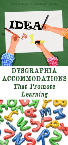 Dysgraphia accommodations to use in the classroom or homeschool to help promote learning excellence and equip children so they can thrive as adults. Learning Activities, Kids Learning, School Ot, School Stuff, School Days, Dyscalculia, Preschool Special Education, Gifted Education, Learning Support
