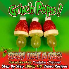 - Easy Christmas Grinch Kabobs Recipe Saw these today at grand-kids Christmas party Kabob Recipes, My Recipes, Baking Recipes, Holiday Recipes, Pizza Recipes, Christmas Recipes, Holiday Ideas, Simple Christmas, Kids Christmas