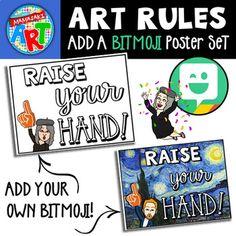 bitmoji classroom rules decor background poster teacher teacherspayteachers expectations