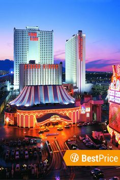 The Circus Circus Hotel in Las Vegas is the ultimate RV Park. We've got the best price on it for your Las Vegas Road Trip.