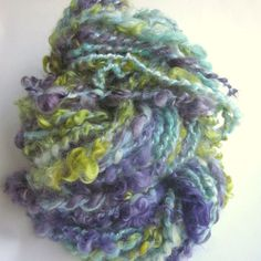 Handspun yarn wensleydale locks and alpaca  curly by thefibretree