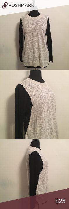 Rebecca Taylor Color Block Sweater 93% Cotton 7% Nylon Rebecca Taylor Sweaters