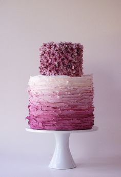 Love the purple ombre! Another Maggie Austin cake. They are all SO gorgeous.