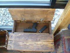 Hidden Gun Reclaimed Pallet Wood Nightstand With Hidden Gun Storage, Repurposed…