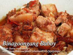 Binagoongang Baboy http://www.panlasangpinoymeatrecipes.com/binagoongang-baboy.htm #BinagoongangBaboy #PorkBinagoongan