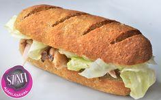 Gluténmentes, Tejmentes, Szójamentes, Paleo Bagett recept kenyér, zsemle, kifli helyettesítésére! Minion, Hot Dog Buns, Bagel, Meal Planning, Sandwiches, Clean Eating, Gluten Free, Bread, Meals