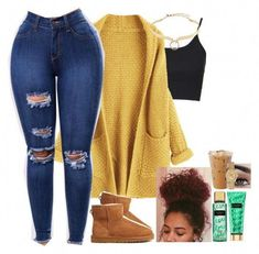 With Uggs Casual Fall Outfits · Bilimsi Swag Outfits For Girls, Cute Swag Outfits, Teenage Outfits, Cute Comfy Outfits, Cute Winter Outfits, Teen Fashion Outfits, Dope Outfits, College Outfits, Summer Outfits