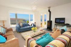 If you're in need of a holiday at the moment, and can get away in the next two weeks, then take a look at this lovely house at Mawgan Porth! Cutty Sark is an ultra-chic coastal home, occupying a prime cliff-top position with captivating views over the beach...  Sleeps up to 10 people - and two pets welcome!  Available the week commencing 7 June at £1415, and the week commencing 14 June at £1443...  http://www.cornishcottageholidays.co.uk/html/property_detail.php?pid=1197