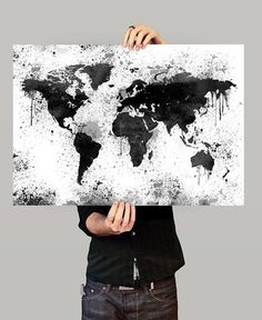 World Map Print Large World Map Map Art Print Map by FineArtCenter