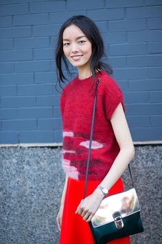 Girl on the Street: New York Fashion Week | Fei Fei Sun | Photo: Diego Zuko September 2014