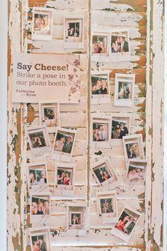 Vintage wedding photo booth DIY idea.