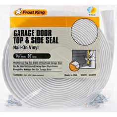 Garage door is our worst draft in the house. This claims to seal top & sides (not bottom.) $18.53 @ Lowes
