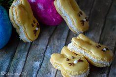 Osterhasen-Macarons mit Kokos-Ganache | SchokoladenFee