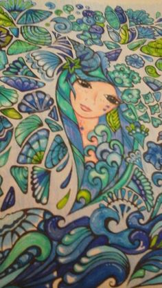 Fanciful Faces from Creative Haven Adult Coloring Book Pages, Coloring Books, Steampunk, Dover Publications, Flower Fashion, Art Therapy, Beautiful Birds, Colored Pencils, Zentangle