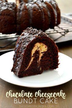 Chocolate Cheesecake Bundt Cake