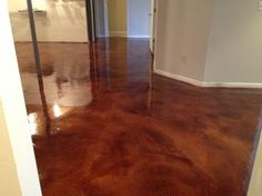 Overlay and Stain - traditional - basement - cincinnati - by Bluegrass Elite Crete