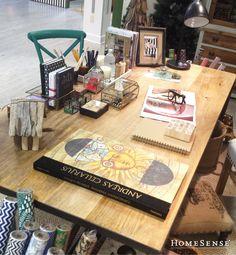 Find all of your craft room desk essentials instore now at up to 60% less everyday. #office #desk #space #storage #ideas #craft #decor  /  Rendez-vous en magasin pour trouver tout ce dont vous avez besoin pour votre salle d'artisanat, le tout jusqu'à 60 % moins cher tous les jours. #bureau #espace #rangement #idées #artisanat #déco  Enter Contest: http://www.homesense.ca/en/pinterest-contest.asp   Participer: http://www.homesense.ca/fr/pinterest-contest.asp  #HomeSenseStyle