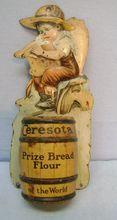 Vintage Tin Ceresota Match Holder