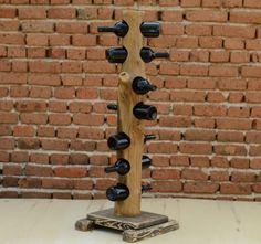Wine+Rack,+7-bottle+wine+rack,+Wine+storage+&+organizing,+tree+trunk+wine+rack,+wine+bottle+holder,+Kitchen+decor,+hou…