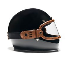 """THE EQUILIBRIALIST """"Knox Maska"""" in tan for the BILTWELL """"Gringo"""" retro full face helmet."""