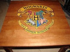 Harry Potter Hogwarts School Wooden 4 Chair Set: Gryffindor, Hufflepuff, Ravenclaw and Slytherin: Home & Kitchen