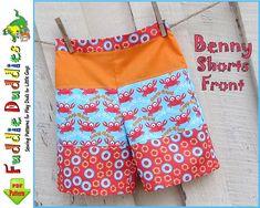 Benny Beach Shorts pdf sewing pattern. Boy's by FuddieDuddies
