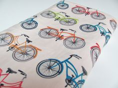 Bicycle Baby Blanket, With Your Choice of Minky Dot. $32.00, via Etsy.