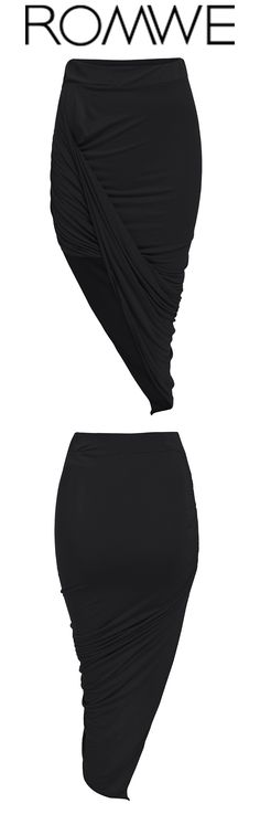 Chic & sexy bosycon skirt with asymmetrical wrap design ,to shape your beautiful body line.Much street style with your trendy sneakers!