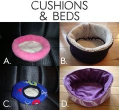 Cushions and beds