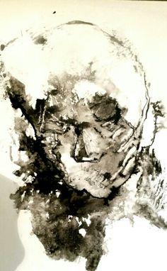 Souldance  Ink on paper by Anne Marie Tangen