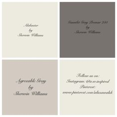 Gauntlet Gray for the outside of house. Agreeable Gray paint color in dining room had a low luster finish. Gauntlet Gray Promar 200 is the paint color for the built ins in the living room. Shutter color: It is listed in the Sherwin Williams Paint Color Schemes, Grey Paint Colors, Room Paint Colors, Exterior Paint Colors, Paint Colors For Home, Wall Colors, House Colors, Gray Paint, Brick Colors
