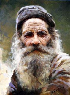 Pescatore =Strino Gianni ...(I think Pescatore means fisherman) ART Painting