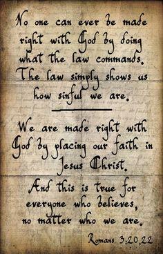 Romans 3: 20, 22