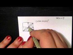 Tangle Tutorial: Holly - YouTube