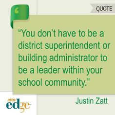 """This ASCD EDge blogger sets out to dispel the myth that teachers can't be leaders because they are """"not at the top."""""""