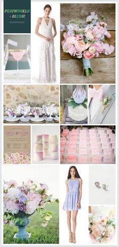 Periwinkle + Blush Wedding Inspiration