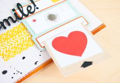 pull-out polaroid- cute idea. I would put an actual picture in there, would be such a cute surprise. -Silhouette Blog