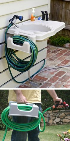 Outdoor Sink with Detachable Hose