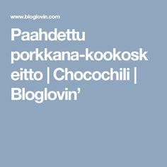 Paahdettu porkkana-kookoskeitto   Chocochili   Bloglovin'