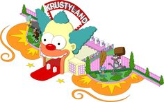 Simpsons Tapped Out Krustyland Update - Entrance