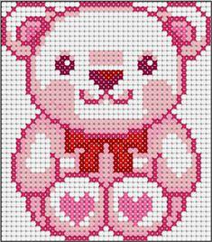 Teddy love perler bead pattern