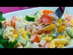Cea mai savuroasă salată din pui cu legume proaspete, bogată în vitamine și culoare.   SavurosTV - YouTube Cobb Salad, Potato Salad, Food And Drink, Potatoes, Ethnic Recipes, Youtube, Diet, Vitamins, Food