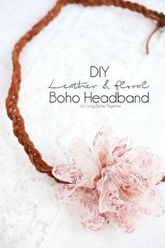 DIY Leather & Floral Boho Headband - Living Better Together