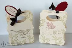Stampin' UP! What a brilliant use of the top note and oval punch - must try it