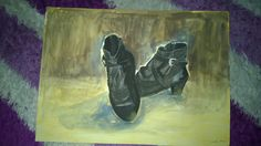 Suluboya Bot resmi. Watercolor Shose