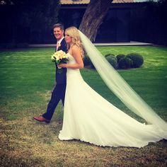 #custommade #weddinggown #silkchiffon #beadedchantillylace #beachwedding #weddingdressmelbourne