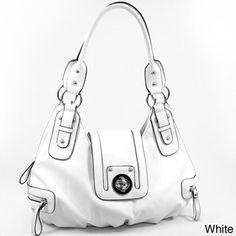 Dasein Women's Buckle Front Shoulder Bag | Overstock.com