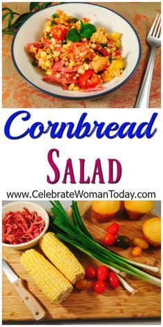 Easy and so flavorful Cornbread Salad recipe. It can easily become your staple for every day and holidays. #RecipeIdeas