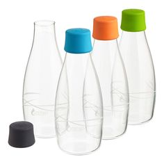 16 oz. Retap Water Bottle - seriously coveting these bottles, but at $18 a pop (and me wanting 2 of each for a total gallon of kombucha), I'll have to wait until they're much cheaper.  :(  WHY do I have to be inhabited by the spirit of an engineer??  Now other glass bottles will never satisfy....